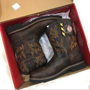 New In Box Justin Steel toe Work Boots Size 12D